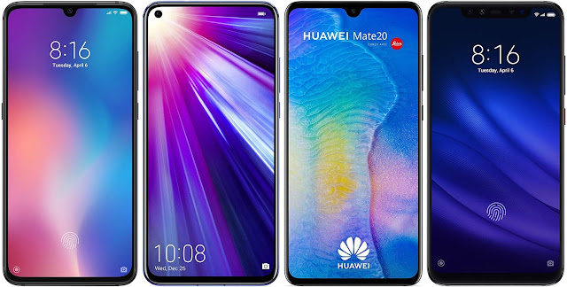 Xiaomi Mi 9 64G vs Honor View 20 128 GB vs Huawei Mate 20 vs Xiaomi Mi 8 Pro 128G