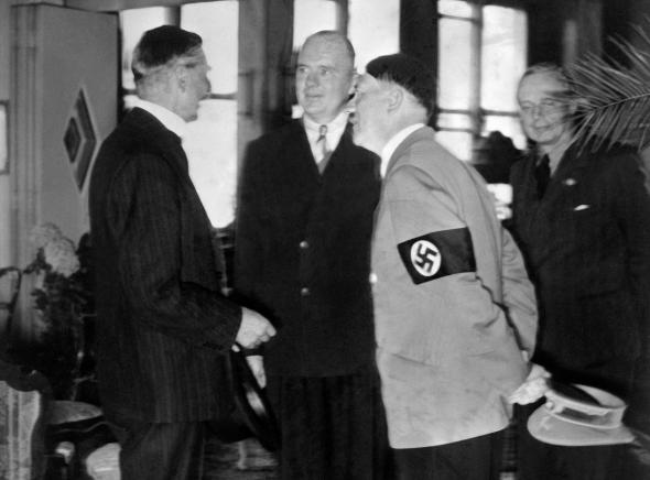 why chamberlain appeased hitler essay Churchill did not support appeasement he asked for a mandatory draft before hostilities broke out he had railed against hitler and was finally brought in to the government (again) in september of 1939 as the first lord of the admiralty.
