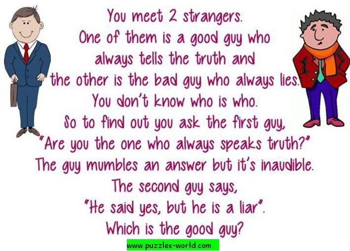 2 Strangers Good Guy Bad Guy Puzzle
