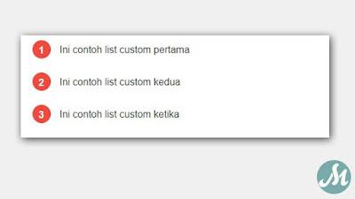 Custom List Number Model 1