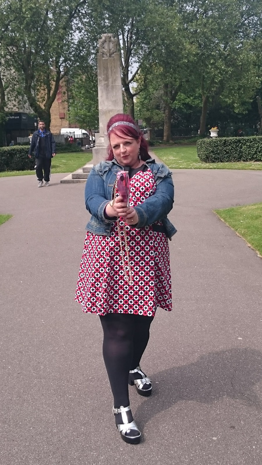 Fashion look from january 2016 featuring pink opaque tights round - I Have To Report This Dress Is Fabulously Comfortable And The Pockets Are Functional I Teamed This With Some Old Silver Sandals From River Island That