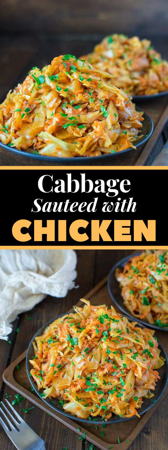 Cabbage Sauteed with Chicken #vegetable #bestrecipe