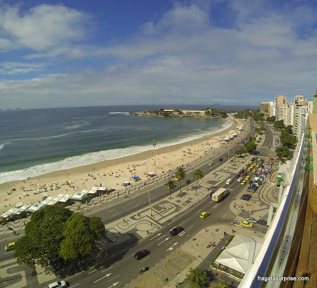 Copacabana, Rio - vista do terraço do Hotel Regente