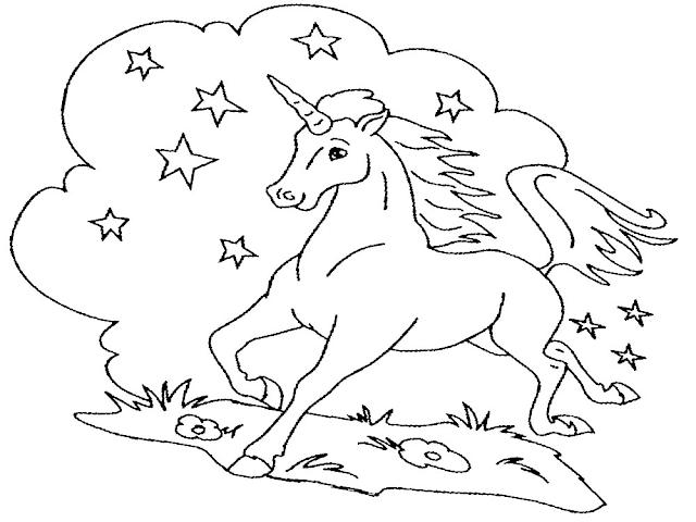 Gambar Mewarnai Unicorn - 8