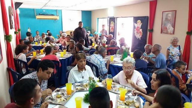 150 platos navideños regalaron Move Org en Santuario Nazareno de Achaguas en Apure. Venezuela.