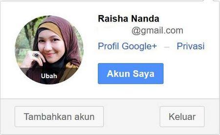 cara ganti foto profil google