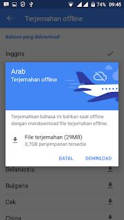 Cara Gampang Translate Bahasa  offline Menggunakan Android
