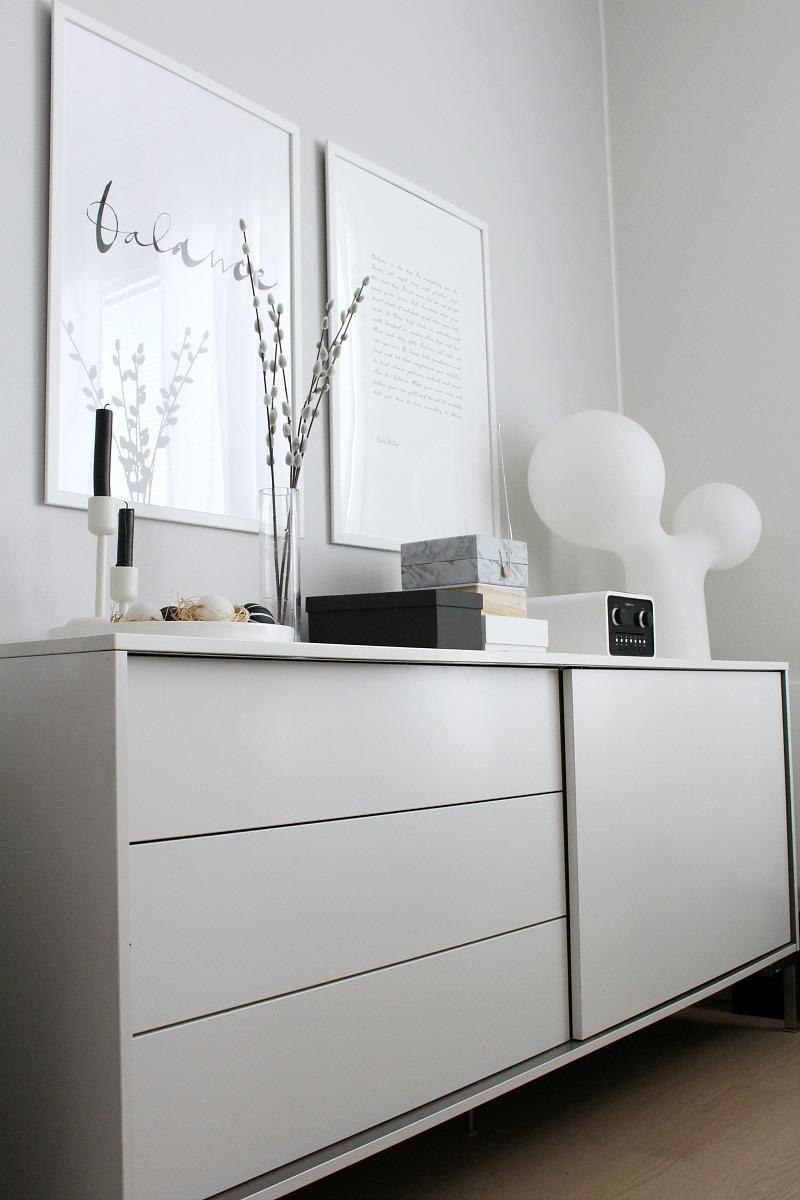 modern easter black and white