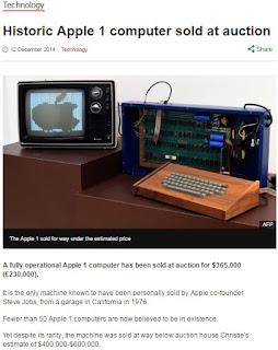 Apple-1 Auction article