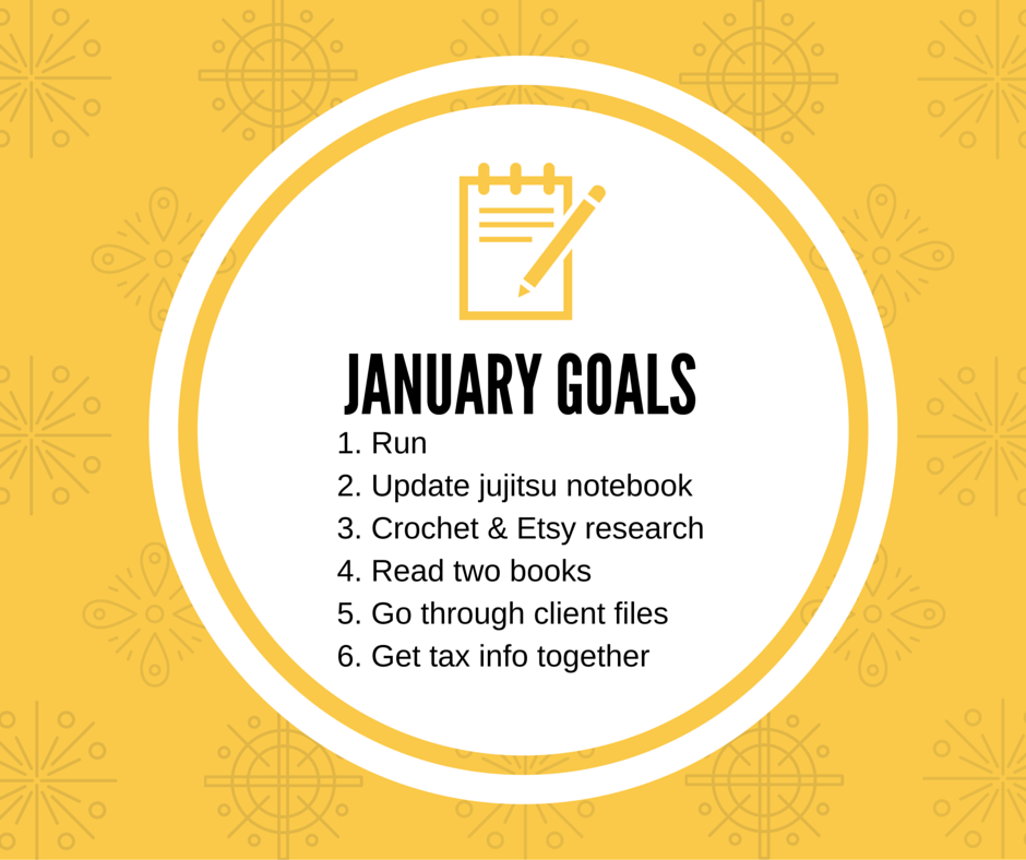 Achieve 2016: January Goals [Monthly Goals at HIgh-Heeled Love]
