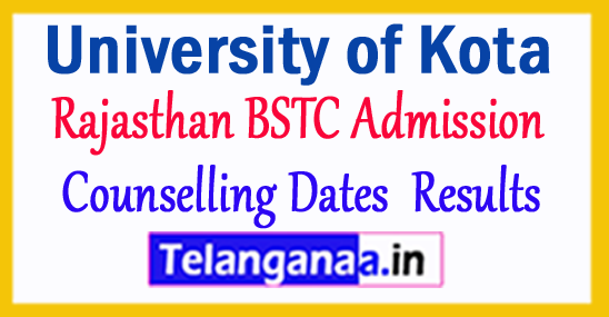 Rajasthan BSTC 1st 2d 3rd Counselling Dates 2017 Pre BSTC Result