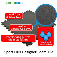 Greatmats Zumba flooring Sport Plus Designer Foam Tile infographic