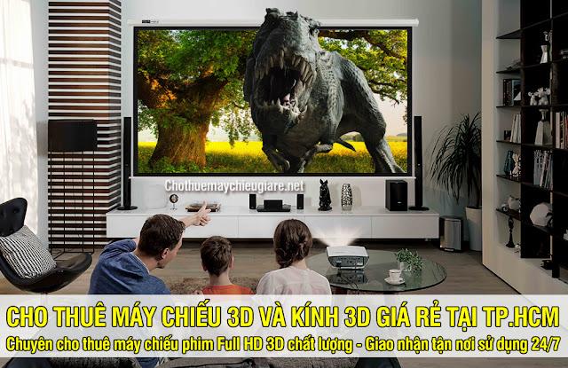 Cho thuê máy chiếu 3D - Kính 3D chất lượng cao giá rẻ