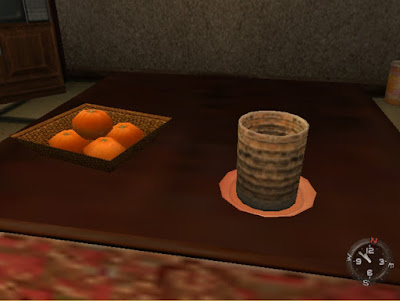 In-game screenshot: kotatsu tabletop