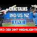 India vs New Zealand 3rd ODI 2017 highlights square off against New Zealand