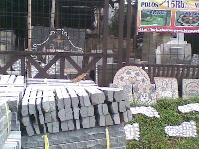 gambar batu alam andesit susun sirih