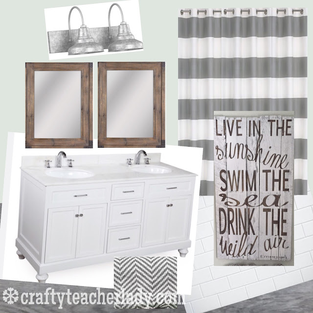 Bathroom decor Sea Salt Sherwin Williams