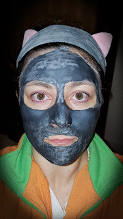 Dr.Organic - Maschera viso purificante al Carbone attivo (Activated Charcoal Pore cleansing Face mask) - swatch