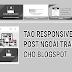 Tạo responsive recent post ngoài trang chủ cho blogspot