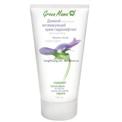 Kem dưỡng da mặt ban ngày Green Mama được chiết xuất từ hoa Violet và Marshmallow 100ml