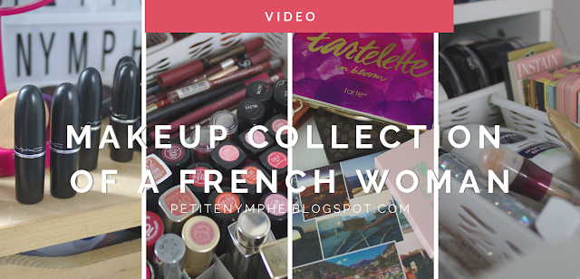 makeup collection of a French woman