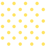 white yellow polka dot