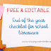End of the Year Checklist for School Librarians