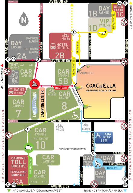 Exit map coachella festival 2019