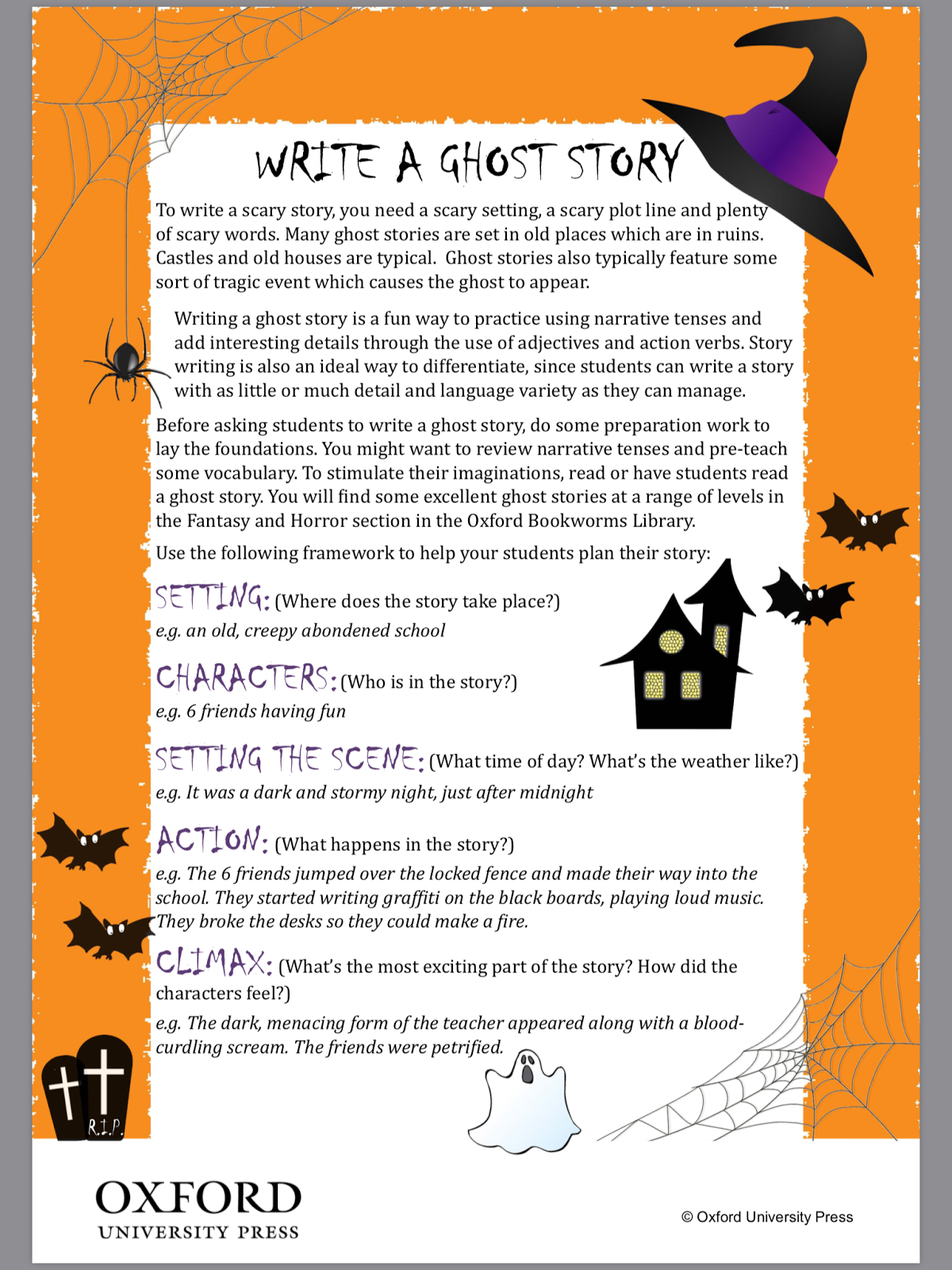 write your own halloween story