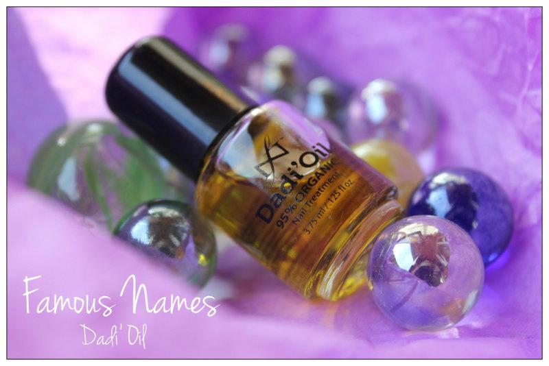 Отзыв: Масло для ухода за ногтями и кутикулой Dadi' Oil от Famous Names.