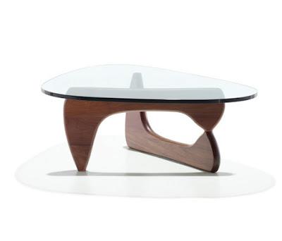 mesa Noguchi original fabricada por Herman Miller. Precio 1500€