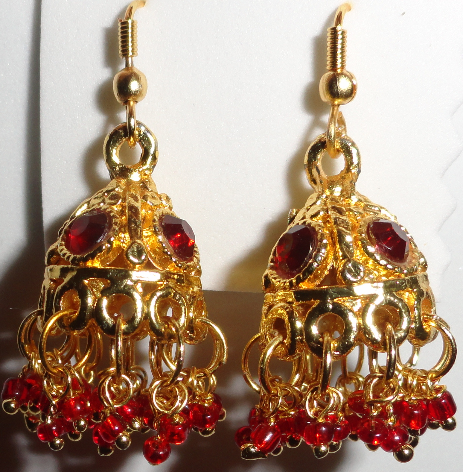 ::My Hobbies::: Maroon Jimikki Earrings