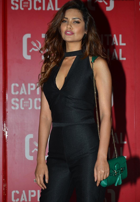 Esha Gupta Looks Super Hot At Capital Social Restaurant Launch In Mumbai