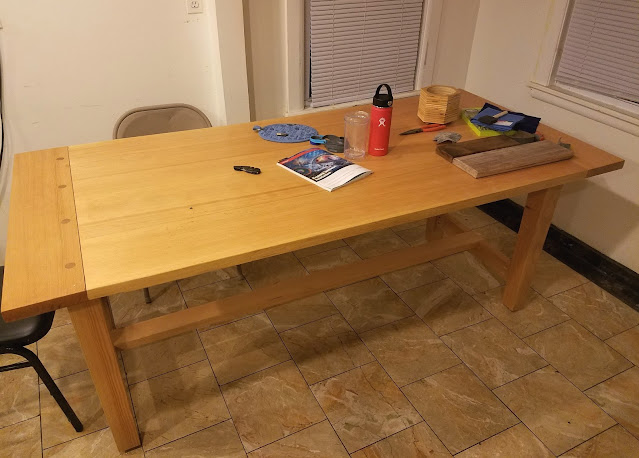 photo of finished wooden table