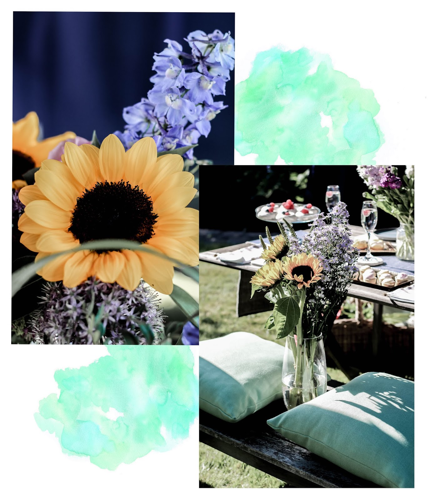 Collage of Blooms and Sunflowers