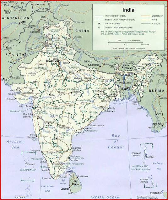Gambar Peta Politik India