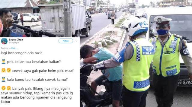 Obrolan Lucu Saat Kena Razia Polisi