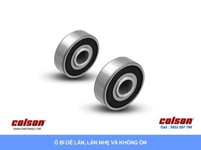 Bánh xe công nghiệp cao su đặc chống xóc chịu lực (350~400kg) sử dụng ổ bi www.banhxepu.net