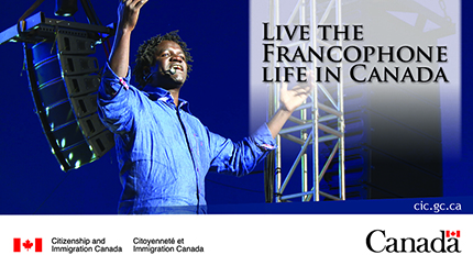 Live the Francophone life in Canada advertisement