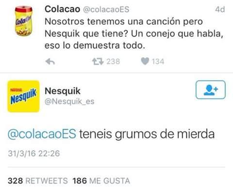 colacao Nesquik guerra twitter vs