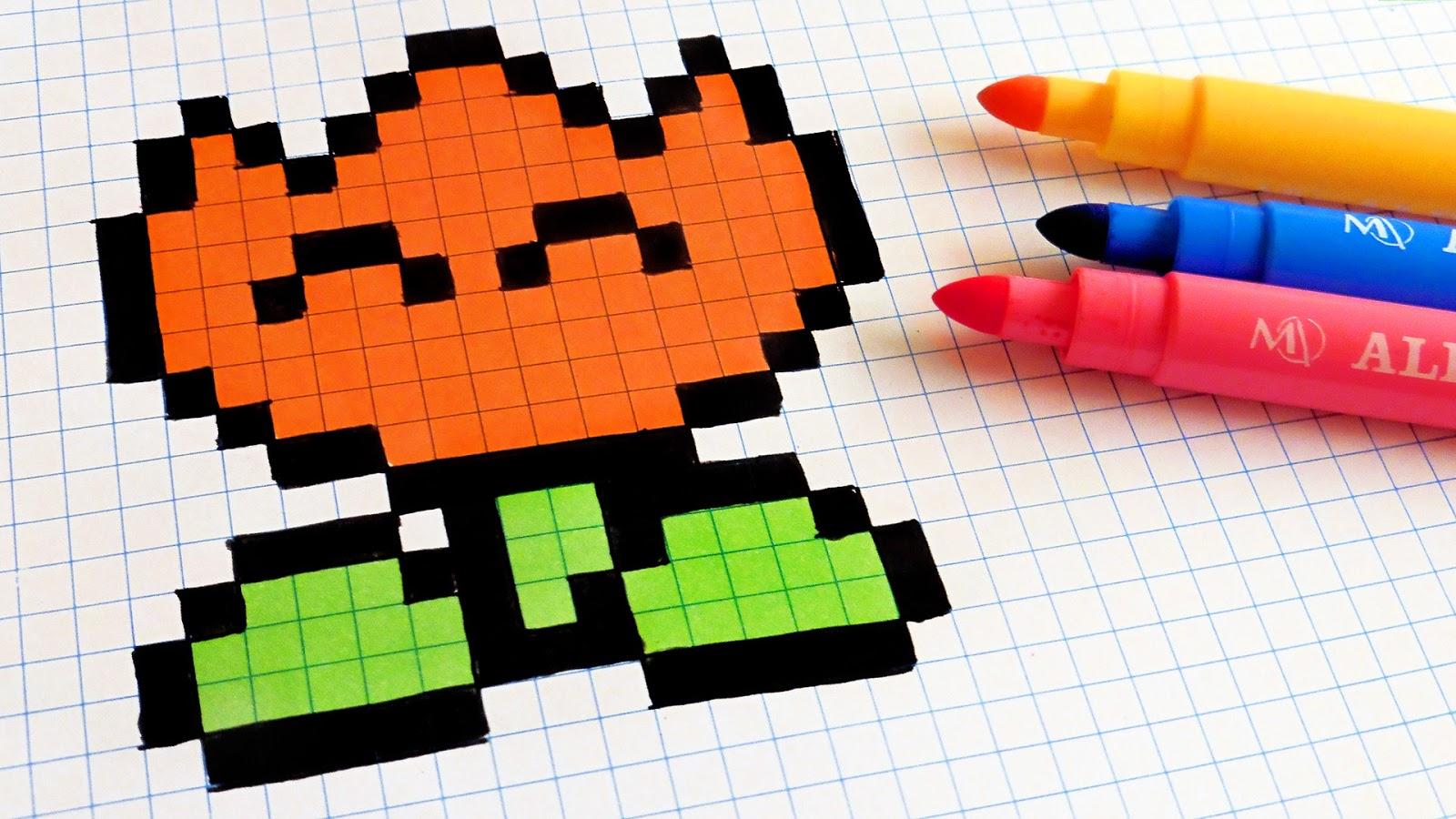 Très Handmade Pixel Art - How To Draw Kawaii Tulip #pixelart | Hello  KR94