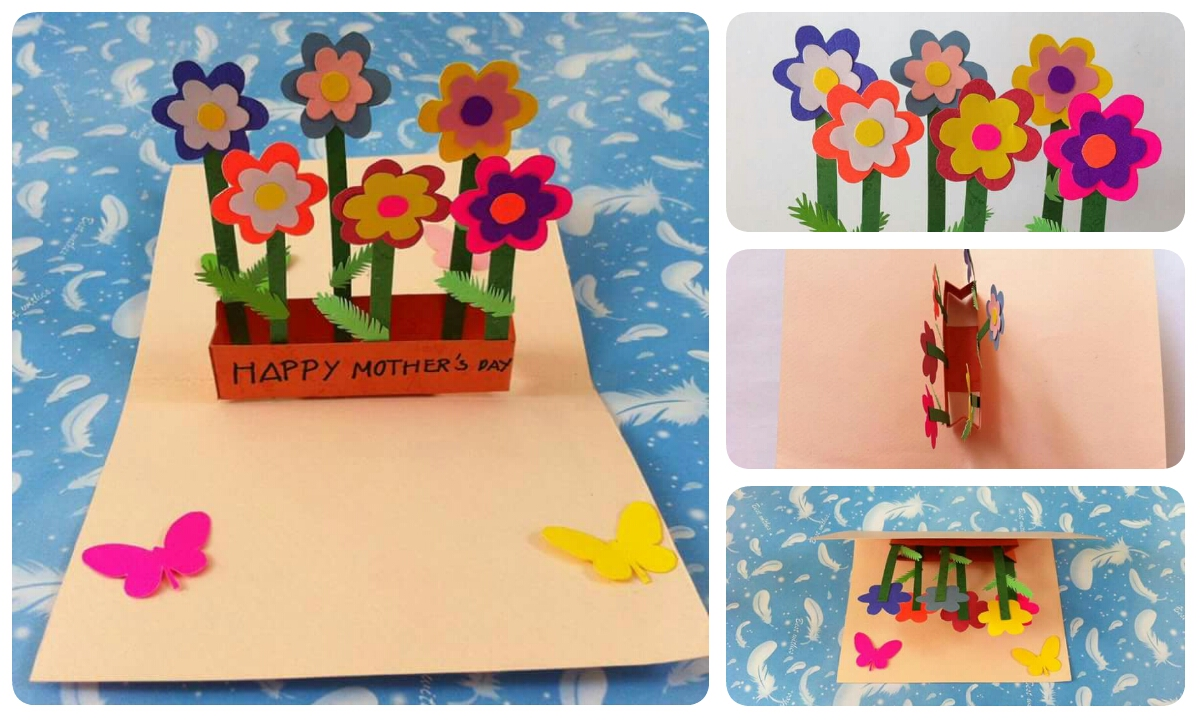 Easy Greeting Card For Mothers Day Crazzy Craft