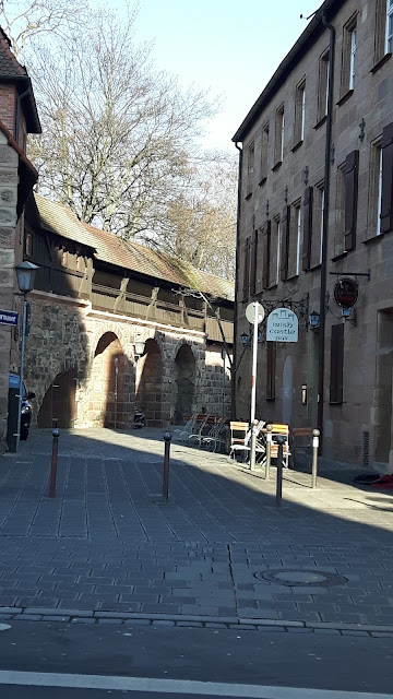 Street by the city wall in Nuremberg