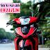 Yamaha Taurus sơn phối màu đỏ đen nhám