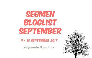 Segmen Bloglist September ShafyqahAzahar