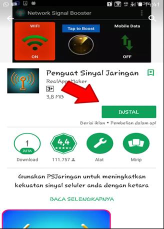 Menggunakan Aplikasi Penguat Sinyal Jaringan