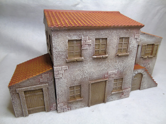 Tablescape mediterranean buildings