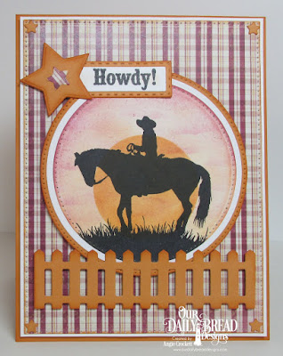 Our Daily Bread Desigsn Stamp Set: Howdy, Our Daily Bread Designs Custom Dies: Pierced Circles, Circles, Pierced Rectangles, Rectangles Dies, Fence, Sparkling Stars, Our Daily Bread Designs Paper Collection:Rustic Beauty