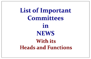 List of Important Committees in NEWS 2015