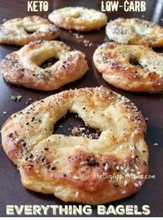 The Best Keto Low Carb Bagels with Everything Seasoning